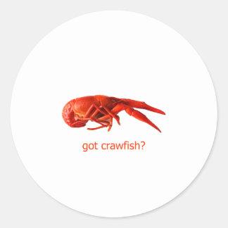 """""""got crawfish?"""" Logo Round Sticker"""