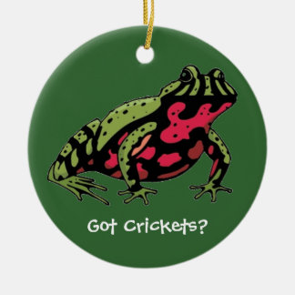Got Crickets (Fire Belly Toad) Ceramic Ornament