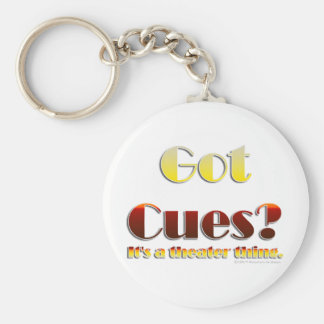 Got Cues? (Text Only) Keychain