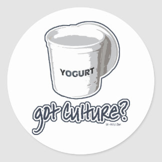 Got Culture? Yogurt Classic Round Sticker