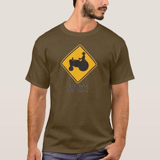 Got Dirt Tractor Gold T-Shirt