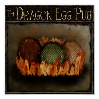 Got Dragon Eggs? fantasy magical pub sign personal