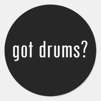 got drums? classic round sticker