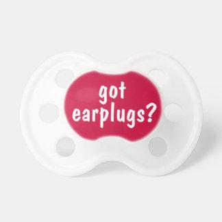 Got Earplugs Noisy Baby Funny Binkie or Pacifier