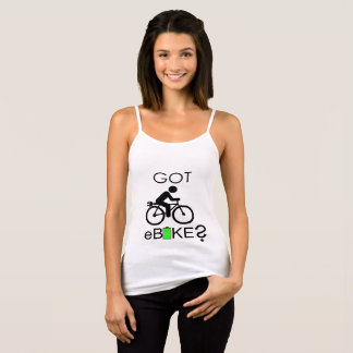 """Got eBike?"" custom strappy tops for women"