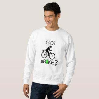 """Got eBike?"" custom sweatshirts for men"