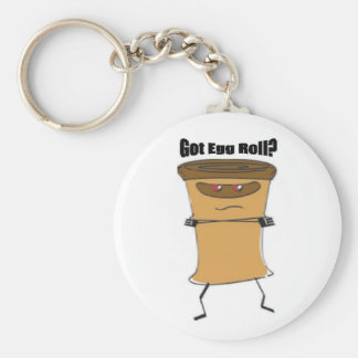 Got Egg Roll Key Chain! Basic Round Button Keychain