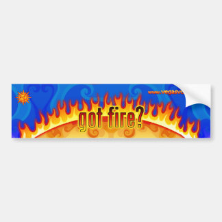 got fire blue sticker bumper sticker