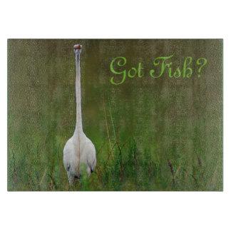 Got Fish?  Great Egret cutting board