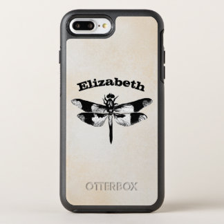 Got Flying Wings / Vintage Dragonfly Personalized OtterBox Symmetry iPhone 7 Plus Case