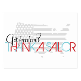 Got Freedom? Thank a Sailor Postcard