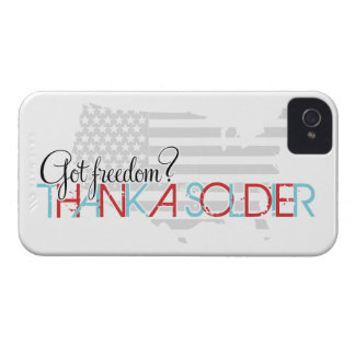 Got Freedom? Thank A Soldier iPhone 4 Case-Mate Case