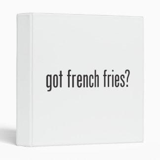 got french fries 3 ring binder