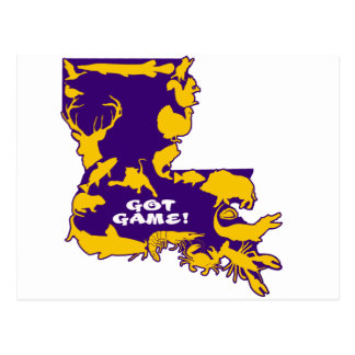 GOT GAME PURPLE AND GOLD.png Postcard