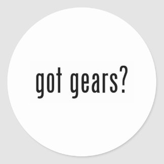 got gears? round sticker