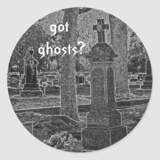 got ghosts? classic round sticker
