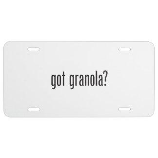 got granola license plate