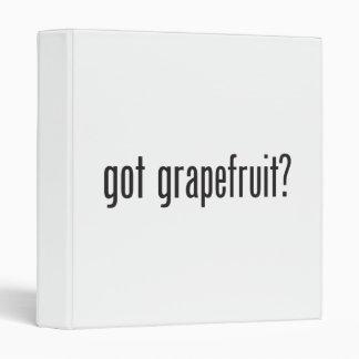 got grapefruit vinyl binder