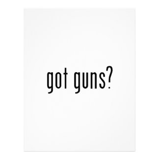 got guns? letterhead