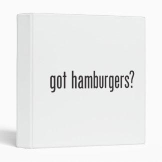 got hamburgers 3 ring binders