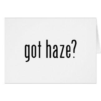 got haze? greeting card