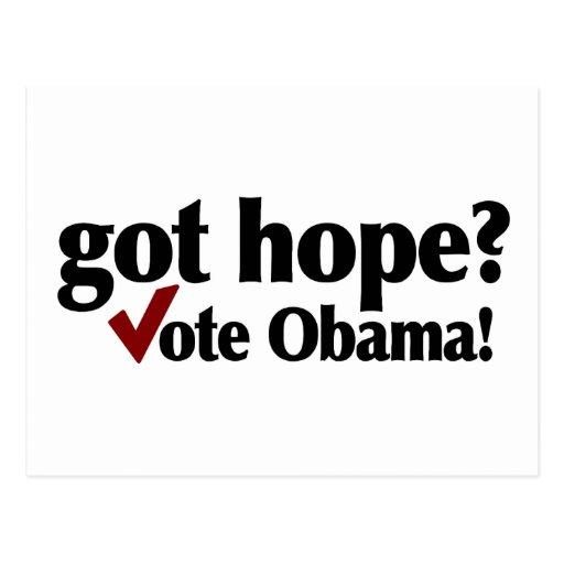 Got Hope Vote Obama Post Cards