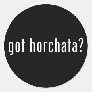 got horchata? classic round sticker