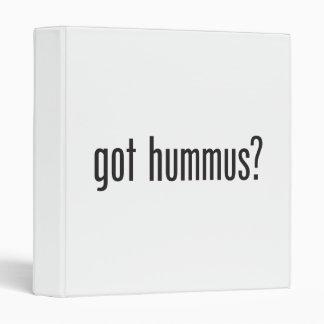 got hummus 3 ring binder