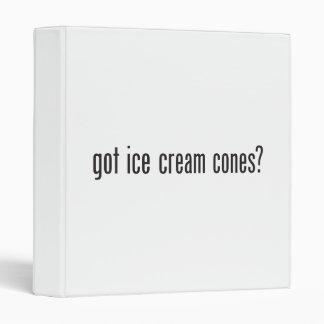 got ice cream cones binders