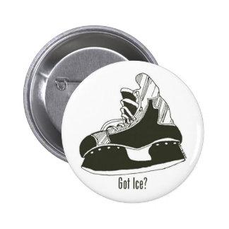 Got Ice? Hockey Skate Button