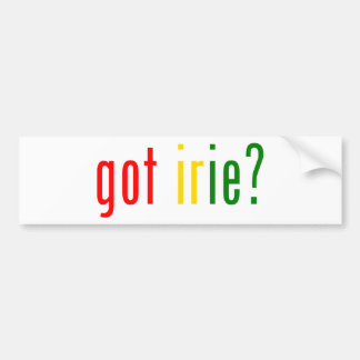 got irie? bumper sticker