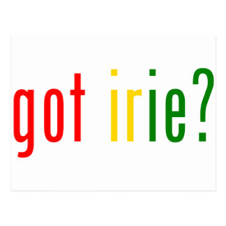 got irie? postcard