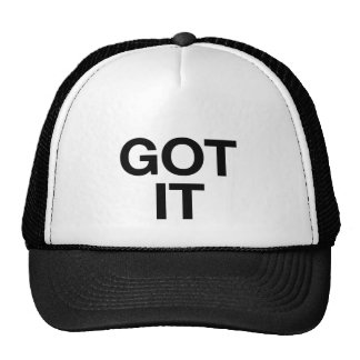 GOT IT fun slogan trucker hat