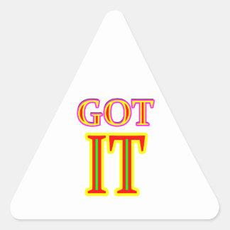 Got IT jgibney The MUSEUM Zazzle Gifts Triangle Sticker