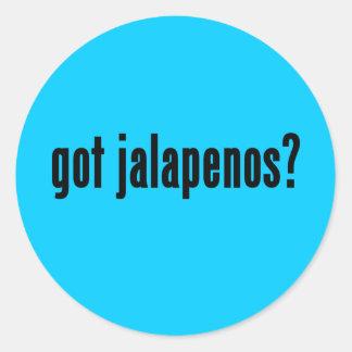 got jalapenos? round sticker