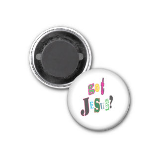 Got Jesus Black Oval Abstract Magnet