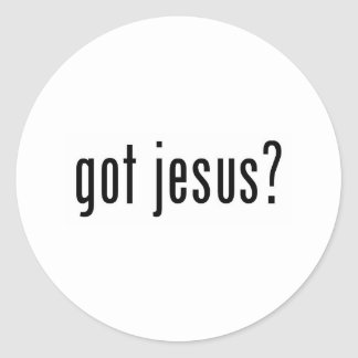 got jesus? round sticker