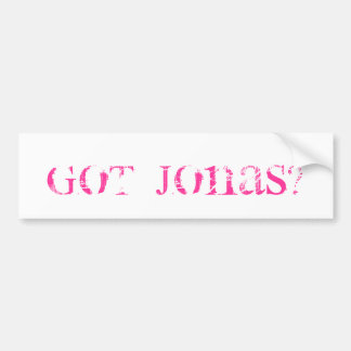Got Jonas? Bumper Sticker