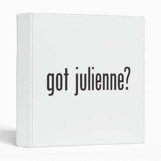 got julienne vinyl binder