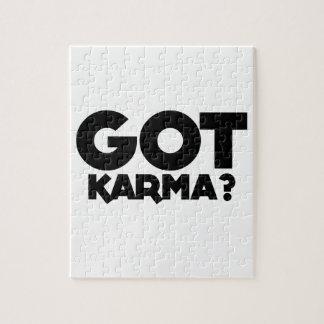 Got Karma, text words Jigsaw Puzzle