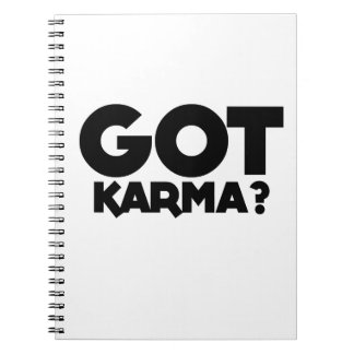 Got Karma, text words Notebook