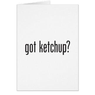 got ketchup card