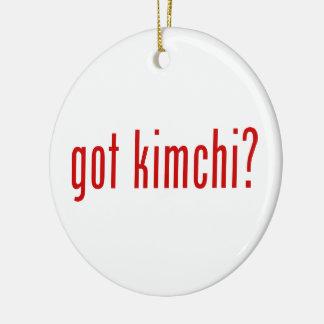 got kimchi? ceramic ornament