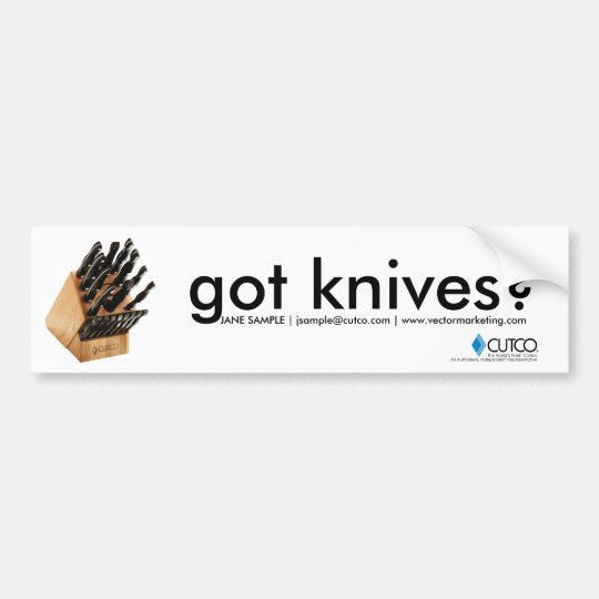 Got Knives Cutco Bumper Sticker