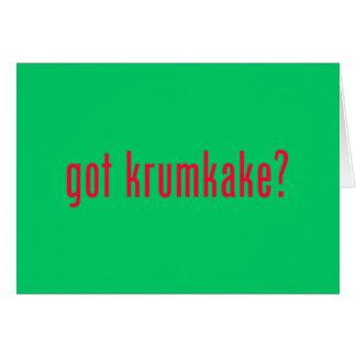 got krumkake? green greeting card