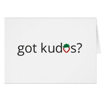 got kudos? cards