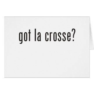 got la crosse? greeting card