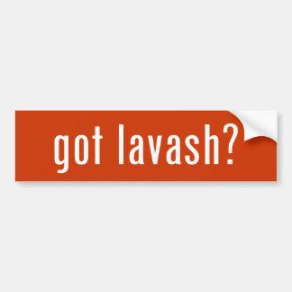 got lavash? bumper sticker