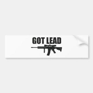 got lead 2 bumper sticker
