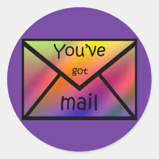 got mail round sticker